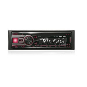 CD-RECEIVER-USB-iPod-CONTROLLER-CDE-192R-red-front